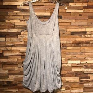 Laundry Empire Waist Pleated Bubble Hem Mini Dress